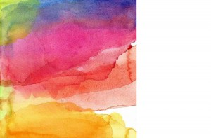 Vibrant abstract watercolour painting