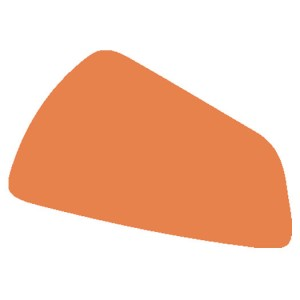 Abstract orange shape from Artful Words logo