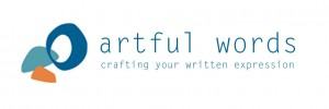 Artful Words logo and tagline