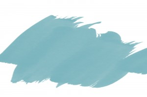 Teal green brushstrokes