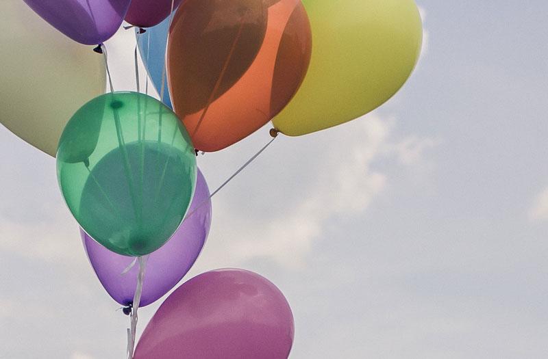 A bunch of coloured balloons