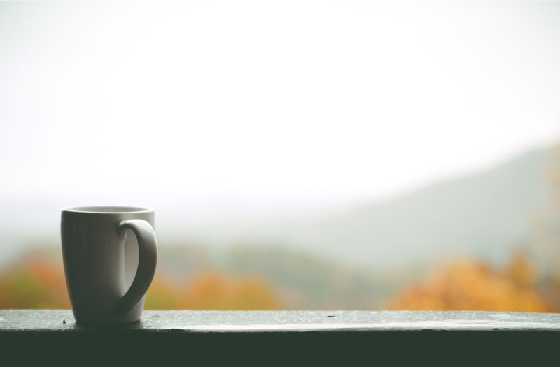 Cup of tea on a windowsill
