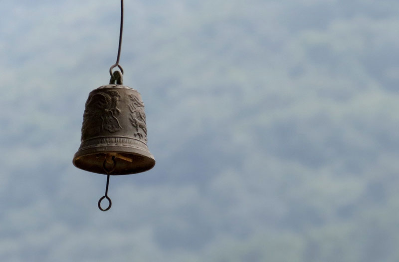 A small temple bell