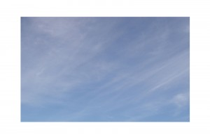 Streaky clouds on a pale blue sky